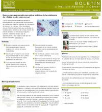 Boletín del Instituto Nacional del Cáncer screenshot