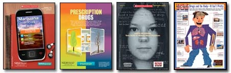 Poster art, marijuana, prescription drugs, making smart decisions and drugs and the body