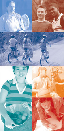 Photo collage of teens