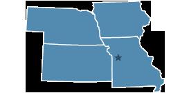 Region 7 covering Iowa, Kansas, Missouri, Nebraska
