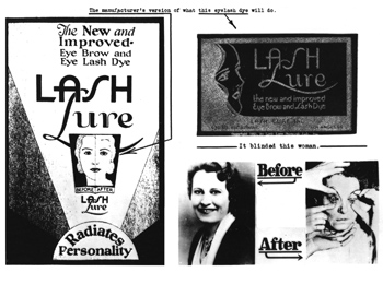 Bad Reaction to Cosmetics? Tell FDA - Lash Lure Historic Picture
