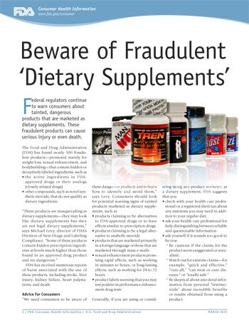 Beware of Fraudulent 'Dietary Supplements' - (JPG)