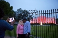 The White House Is Illuminated Pink