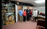 President Barack Obama Views The Office Of Cesar Chavez