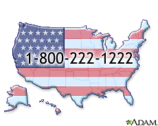Illustration of the emergency number for the poison control centers