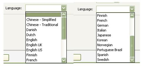 The English version of Adobe Acrobat Professional does not support many non-Western character sets (such as Cyrillic, Greek, Thai, Hebrew, or Asian languages) in its language encoding configuration