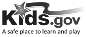 Kids.gov Grayscale Logo