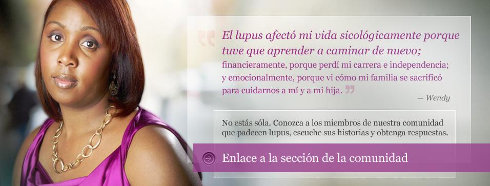 El lupus efecto mi vida sicologicamente porque tuve que aprender a cominar de nuevo