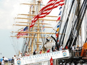 New citizens arrive on U.S.S. Constitution