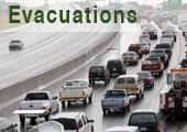Cars Evacuating on Highway