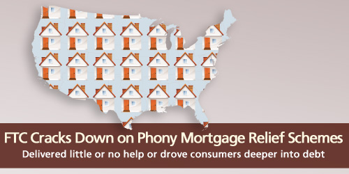 FTC cracks down on phony mortgage relief schemes. They delivered little or no help or drove consumers deeper into debt.