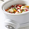 food cooking in a crockpot