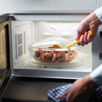 cooking food in a microwave