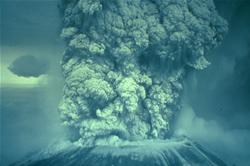 Mt. St. Helens, WA, May 18, 1980 erupting
