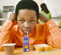 Boy with lunch