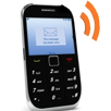 Cell phone with new message