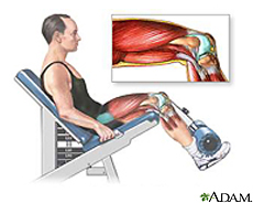 Illustration of a man exercising leg muscles