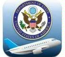 Date: 06/14/2011 Description: Logo for App: State Department Seal and stylized image of an airplane in flight. - State Dept Image