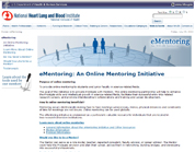 eMentoring Website Screenshot
