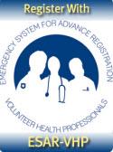 Register with Emergency System for Advance Registration of Volunteer Health Professionals