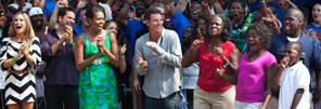 First Lady Michelle Obama at Extreme Makeover