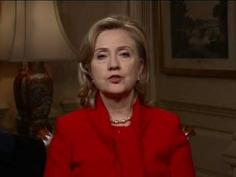 U.S. Secretary of State Hillary Rodham Clinton delivers a message to the LGBT community that