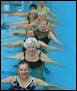 A group of women swimming
