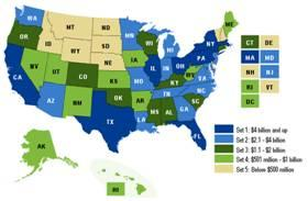 Click on the map to learn about HHS Recovery Act funding in your state