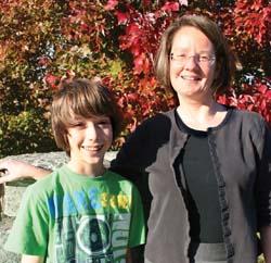 Dr. Anne Zajicek and son Eli
