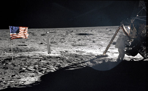 Image description: Forty three years ago today, two Americans became the first humans to walk on the moon. Here you see Neil Armstrong working at an equipment storage area on the surface of the moon. This is one of the few photos that show Armstrong during the moonwalk. Learn more about the first moonwalk and watch videos from this historic event. Photo by NASA.