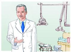 Ilustración: Un dentista en su consultorio