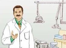 Illustration of a dentist