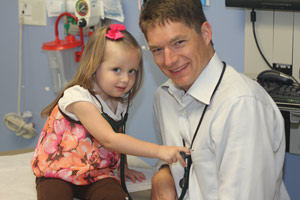 Dr. Fluchel with Patient