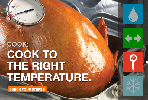 Cook: Cook to the right temperature.
