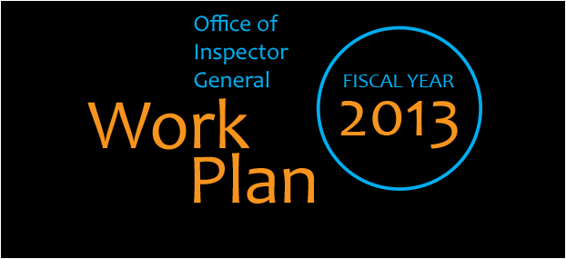 OIG 2013 Work Plan