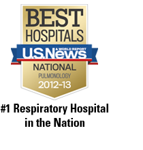 #1 Respiratory Hospital in the Nation, 15 Years at the Top
