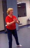 Cynthia Exercising.