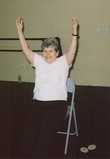 Mildred Exercising.