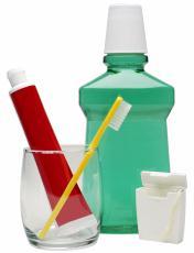 Fotografía de productos para la higiene bucal