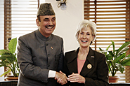 HHS Secretary Sebelius meets with Ghulam Nabi Azad, India Minister of Health and Family Welfare. Credit: Photo by Rakesh Malhotra.