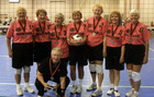 2009 Huntsman World Senior Games Women's Volleyball Team Exercising.