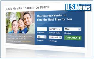 Screenshot of US News Health Plan Finder