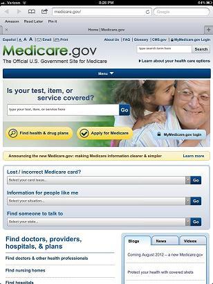 The new Medicare.gov for tablets