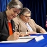 Secretary Napolitano forges a law enforcement partnership.