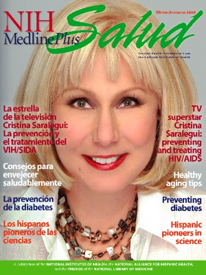 The Cover of the Winter 2009 issue of NIH MedlinePlus Salud