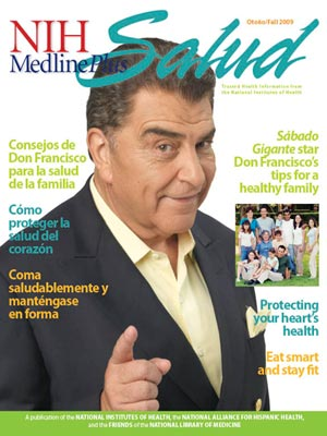 The Cover of the Fall 2009 issue of NIH MedlinePlus Salud