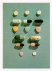 Fotografía de píldoras de metanfetamina y anfetamina