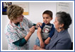 A child receiving a vaccine