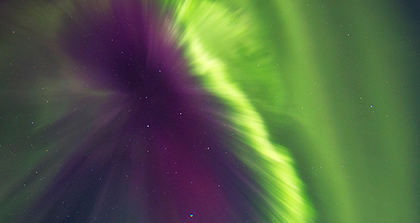 Aurora in Whitehorse Yukon Canada on Oct. 1 resulting from CME on Sept. 27.