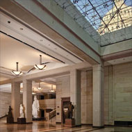 Emancipation Hall in the Capitol Visitor Center